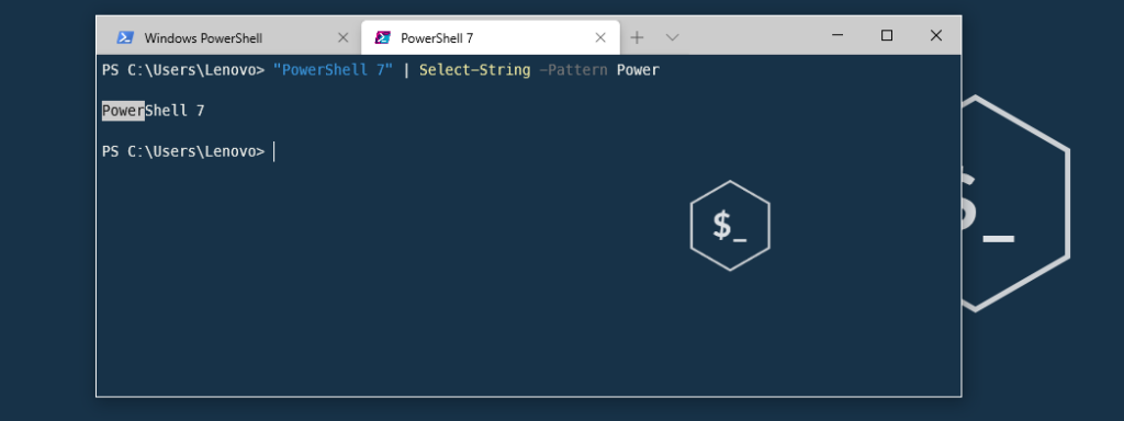 Select-string powershell 7