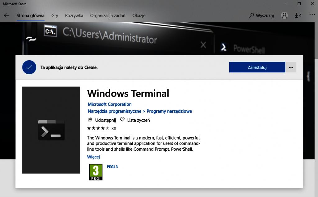 Instalacja Windows Terminal