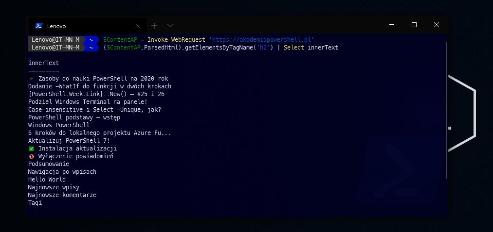 PowerShell web scrapping