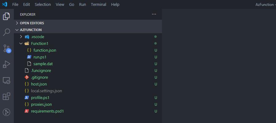 azure function schemat